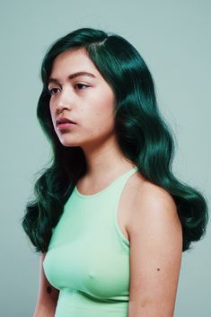 Green hair - Polyester 2014, shoot by Arvida Byström.