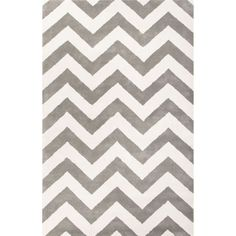 Jaipur Rugs Modern Geometric Pattern Gray/Ivory Wool Area Rug TV30 (Rectangle)