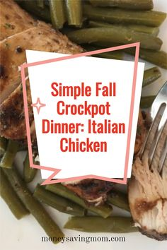 This make-ahead marinated chicken recipe is SO easy, frugal, and delicious! Perfect for a simple weeknight dinner idea! This is also a great fall crockpot dinner recipe! Pumpkin Recipes, Fall Recipes, Easy Dinner Recipes, Dinner Ideas, Slow Cooker Recipes, Crockpot Recipes, Healthy Recipes, Freezer Cooking, Cooking Tips