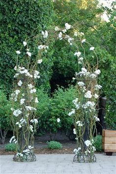 Growing style arch of curly willow with daisies and roses only, yours will have small orchids, delicate green vine and babies breath instead Daisy Wedding, Wedding Flowers, Mercury Glass Wedding, Roses Only, Small Centerpieces, Curly Willow, Floral Arch, Fall Wedding Colors, Brides And Bridesmaids