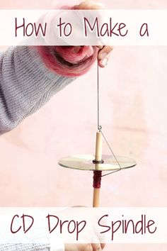 Learn how to make a drop spindle with this easy DIY. Perfect for teaching new spinners, this drop spindle is easy, portable, and inexpensive. Diy Spinning Wheel, Spinning Wool, Hand Spinning, Spinning Wheels, Recycle Newspaper, Newspaper Crafts, Yarn Crafts, Diy And Crafts, Quilled Paper Art