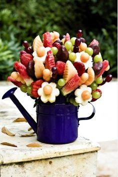 Faça você mesmo: bouquet comestível para as mamães que adoram fruta e flores