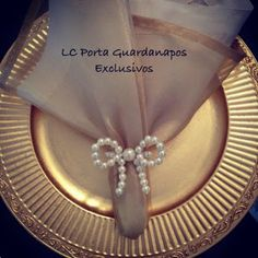 LC Porta Guardanapos Exclusivos: Pérolas