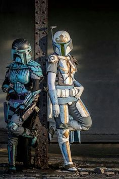 I have a new oc Bonnie Fett she is a mandalorian (they are off star wars) and looks like the white one above in the picture. But she has black wings (similar to my previous oc) and a blue light saber, and she also has telekinesis(the force) (plus the usual guns and weaponry) feel free to comment for a name idea. And tell me what you think! (So practically my old oc with mandalorian armour) she is also related to Jango and Boba Fett
