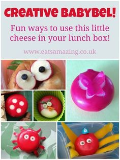 Eats Amazing - tons of creative ideas to make a Babybel cheese really fun for your lunch box Creative School Lunches, Healthy Lunches For Kids, Kids Meals, Food Art For Kids, Cooking With Kids, Easy Cooking, Healthy Cooking, Cold Lunches, Lunch Snacks