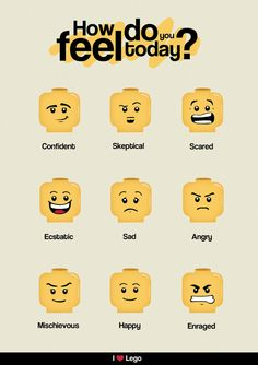 How do you feel today? The many faces of #lego
