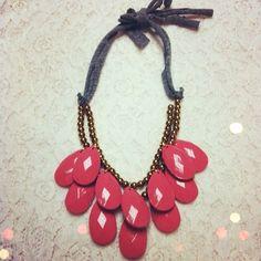 DIY Teardrop bib necklace