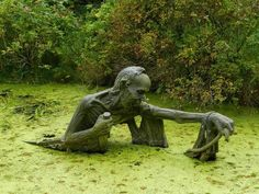 Bog art by Tobias David Lopez and Jerry Hein ~ Old Moss Woman's Secret Garden ~ facebook