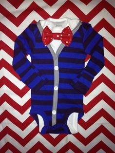 baby boy cardigan.....He could look like Pee Wee