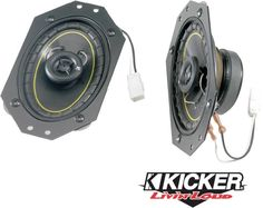 Kicker Factory Replacement Front Dash Speaker Kits for 97-06 Jeep® Wrangler TJ & Unlimited