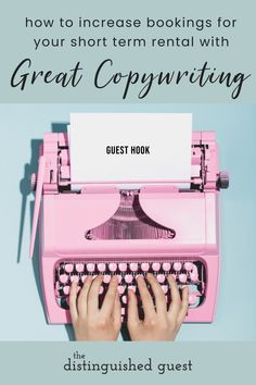 Using great storytelling can increase bookings at your vacation rental or Airbnb. Here are some tips for finding an excellent copywriter or editor that specializes in vacation rentals. #airbnbhost #vacationrentalhost