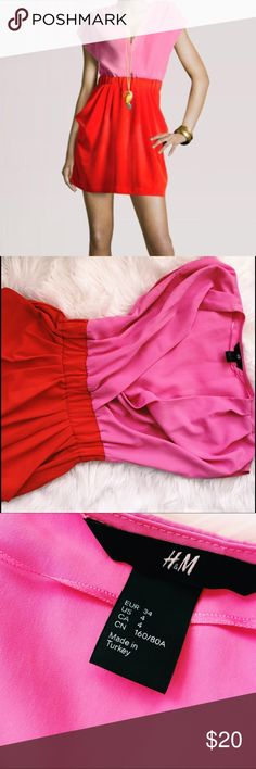 Beautiful Red & Pink Dress! Red & Pink dress! Easy to dress up! Or down! Perfect condition. Very soft! Barely touched! Amazing colors for the summer season! Enjoy! Sorry, no trades. H&M Dresses