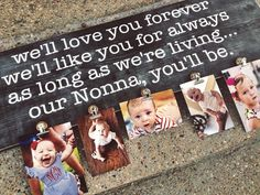 300 favorites and counting!!! Mother's Day Photo Board Photo Frame Gift by VineAndBranchesTX, $48.00