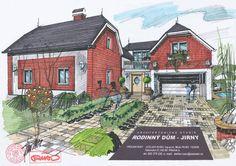 Přístavba rodinného domu, Jirny Milan, Cabin, House Styles, Drawings, Home Decor, Atelier, Decoration Home, Room Decor, Cabins
