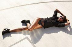 Cindy Nouveau Swimsuit, Dark Identity Bracelet, Hilight Wedge Sneaker in black - top coming soon!