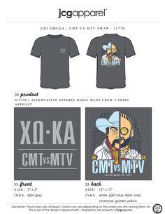 JCG Apparel : Custom Printed Apparel : Chi Omega CMT vs. MTS T-Shirt #chiomega #chio #xo #mtv #cmt #swap #mixer #social #handdrawn #cowboy #rapper Sorority Social Themes, Sorority Socials, Phi Mu, Kappa Delta, Alpha Chi, Sorority Shirt Designs, Sorority Shirts, Fraternity Shirts, Sorority And Fraternity