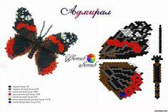 Бабочки из бисера. Схемы.   Творческие мастер-классы по рукоделию и кулинарии. - #Beading schema of different types of butterflies