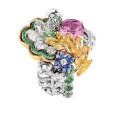 「ディオール」ヴェルサイユ宮殿の庭園が着想のハイジュエリー、瑞々しい草花をダイヤモンドやエメラルドで - 画像7