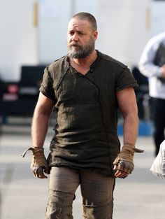 Russell Crowe on the set of Noah (dir. Darren Aronofsky)