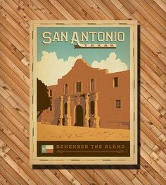 San Antonio TX: Alamo Print | Art Prints | Anderson Design Group | Scoutmob Shoppe