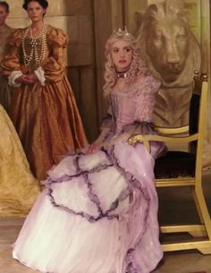 Alice through the Looking Glass: The White Queen (young)-Adrienne-love the dress and the purple highlights in her hair