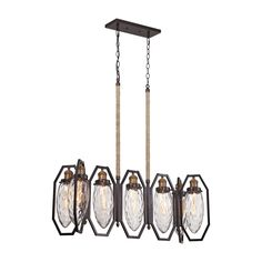 Elk Owen 7-light LED Chandelier in Oil Rubbed and Antique Brass