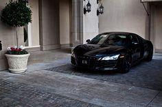 Black on black Audi R8.