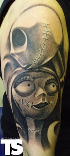 Jack and Sally- awesome tattoo! I wish I were less responsible... I'd go have it done! lol