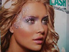 Mermaid or Fairy Costume Makeup Fairy Makeup, Makeup Art, Beauty Makeup, Hair Beauty, Angel Makeup, Eye Makeup, Queen Makeup, Makeup Style, Makeup Shop