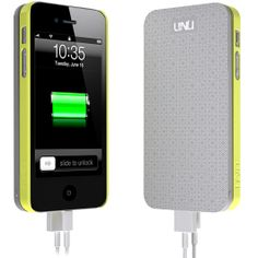 I GOTTA HAVE THIS !!!!!!!!!!!!!!  I use my iPhone 5 ALL day long & i have to constantly plug it in to recharge it. With THIS Protective Snap-on Case & Detachable Extended Battery from UNU  I won't have to be tethered to a wall plug for hours a day recharging my phone,i can NOW recharge on-the-go !!!!  THANKS UNU