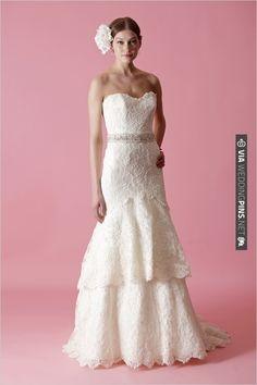 Badgley Mishka lace wedding gown   CHECK OUT MORE IDEAS AT WEDDINGPINS.NET   #weddingfashion