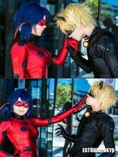 Ladybug and Chat Noir MLB cosplay Cosplay Anime, Cute Cosplay, Cosplay Makeup, Amazing Cosplay, Best Cosplay, Cosplay Costumes, Couples Cosplay, Cosplay Girls, Lady Bug