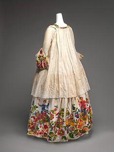 Embroidered ölinen casaque (Italian), 1725-1740, Metropolitan Museum