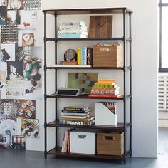 Pipe Bookcase - Wide | West Elm