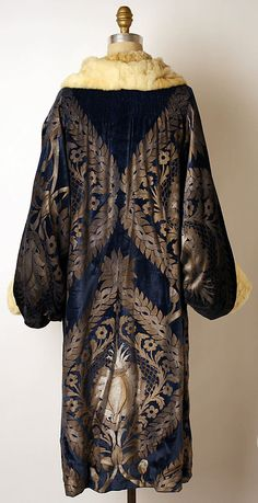 Coat, Evening  Maria Gallenga  (Italian, Rome 1880–1944 Umbria)  Date: 1925–26 Culture: Italian Medium: silk, fur