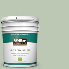 BEHR Premium Plus 5-gal. #440E-3 Topiary Tint Zero VOC Semi-Gloss Enamel Interior Paint