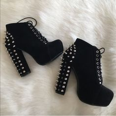 Size 7 lita spiked booties Size 7 all sales are final Shoes Ankle Boots & Booties