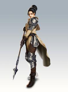 Lady knight. Full body armor