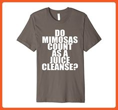Mens Do Mimosas Count as a Juice Cleanse? Funny Foodie Shirt Large Asphalt - Food and drink shirts (*Partner-Link)