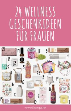 Wellness Adventskalender - 24 entspannende Geschenke 24 gifts from the area of wellness, mindfulne Presents For Girls, Gifts For Girls, Gifts For Wife, Advent Calendar Fillers, Advent Calendars, Countdown Calendar, Gift Baskets For Women, Cheap Christmas Gifts, Relaxation Gifts