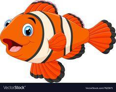 Picture Of A Fish Cartoon Cute Clown Fish Cartoon Clown Fish Cartoon Fish Cartoon Vector Icon Cute Clown Fish Cartoon Fish Cartoon Images Stock Photos Vectors Shutterstock Fish Clown Fish Cartoon, Fish Cartoon Images, Cartoon Sea Animals, Cute Cartoon, Fish Drawings, Art Drawings For Kids, Cute Animal Drawings, Drawing For Kids, Cartoon Drawings