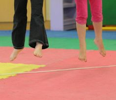 Here's an idea for a dance class activity. Moving Smart: SMART STEPS: WALK THE LINE!