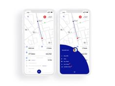 Public transportation app / concept designed by Iov Mada. Connect with them on Dribbble; Bus App, Parking App, Mobile Ui Design, Interaction Design, Ui Kit, App Ui, Interface Design, Ad Design, Application Design