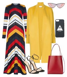 """""""Untitled #2842"""" by moxieremon on Polyvore featuring Le Specs, Astraet, Gianvito Rossi, Calvin Klein 205W39NYC and Palm Angels"""