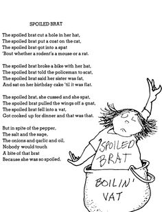 shel silverstein | shel silverstein poem poetry get it spoiled like the food dudley is a ...