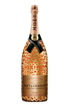 Moët & Chandon Nectar Impérial Rosé Leopard limited edition champagne - we'll cheers to this, any day.