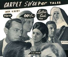 In Carpet Sweeper Tales, Julie Doucet (Dirty Plotte) mashes up 'fumetti' photo-novels with text from vintage magazines to create a playful and ironic book Photo Comic, Book Week, Vintage Magazines, Book Recommendations, Collage Art, Maid, New Books, Novels, Carpet