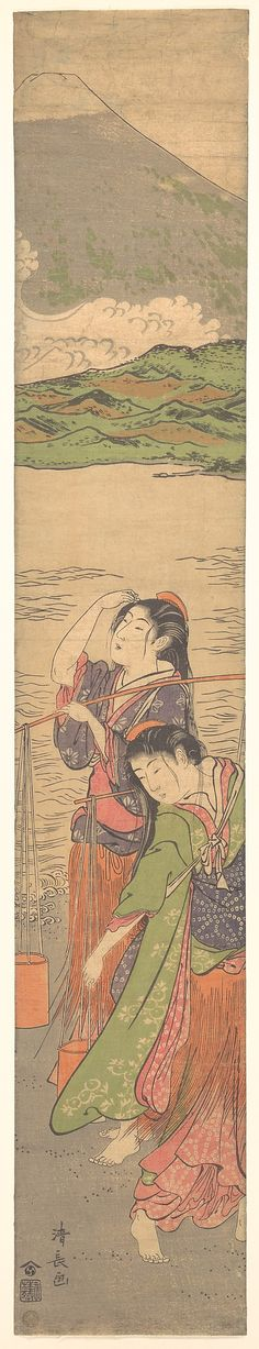 I want this on the wall in my room! ---Torii Kiyonaga (Japanese, Dance of the Beach Maidens, late century. The Metropolitan Museum of Art, New York. Asian Artwork, Mont Fuji, Japanese Painting, Japanese Prints, Japan Art, Japanese Culture, Woodblock Print, Chinese Art, Metropolitan Museum