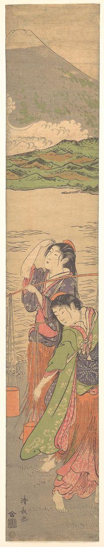Torii Kiyonaga (Japanese, 1742–1815). Dance of the Beach Maidens, late 18th century. Edo period (1615–1868). Japan. The Metropolitan Museum of Art, New York. Rogers Fund, 1922 (JP1228) #dance