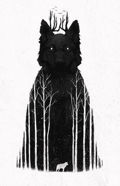 Dan Burgess - Wolf Art